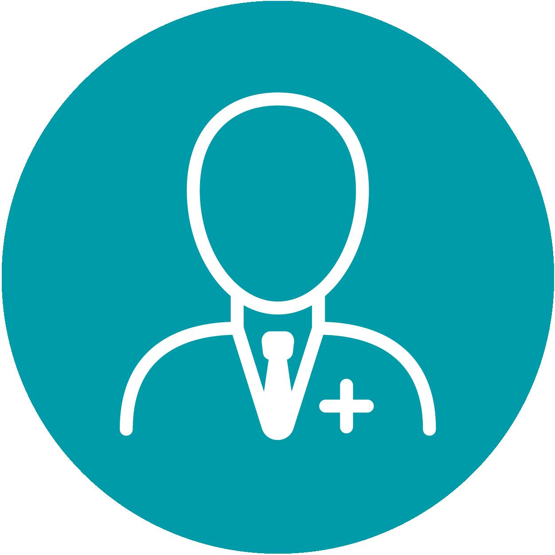 Ein Icon in Form eines Arztes, es steht für das Anästhesieverfahren